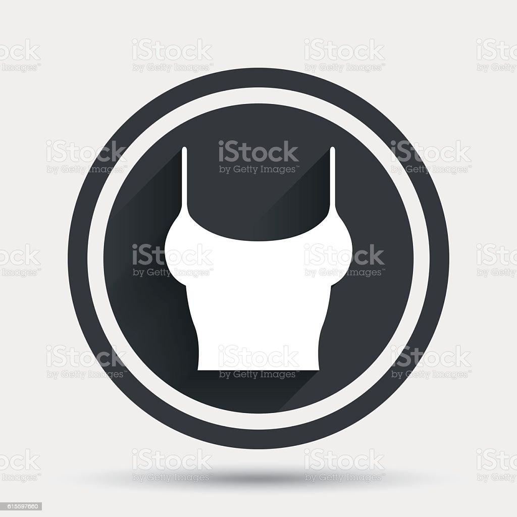 Women T-shirt sign icon. Intimates and sleeps. vector art illustration