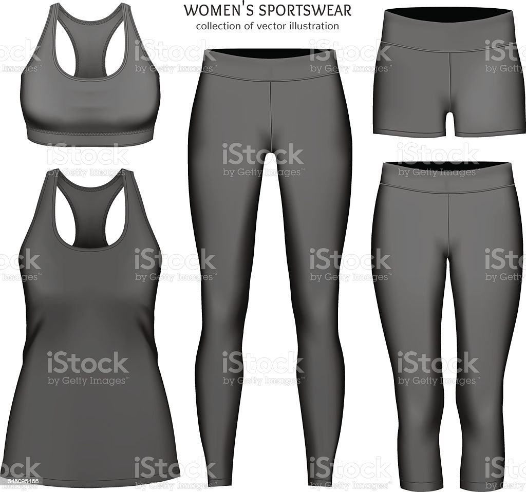 Women vector sportswear. vector art illustration