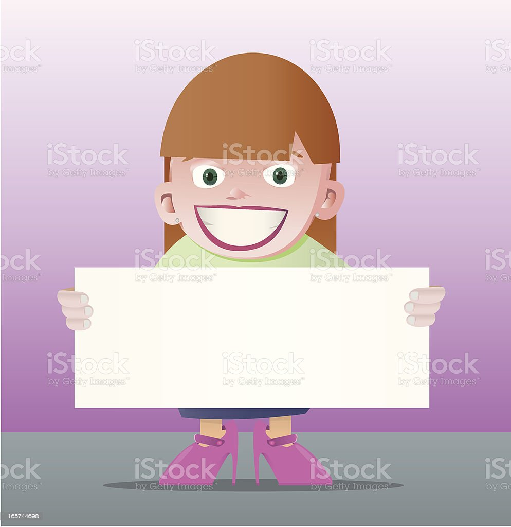Women with banner royalty-free stock vector art
