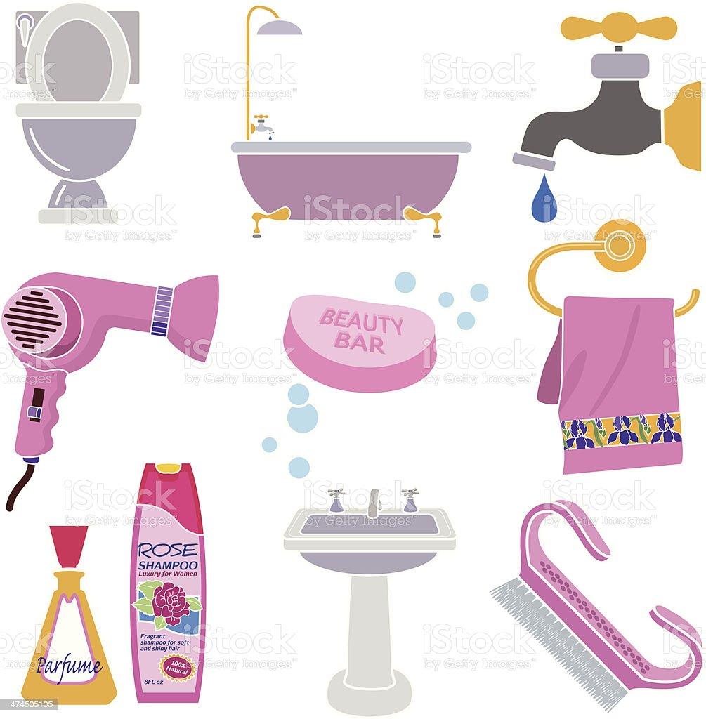 bathroom accessories clip art cliparts