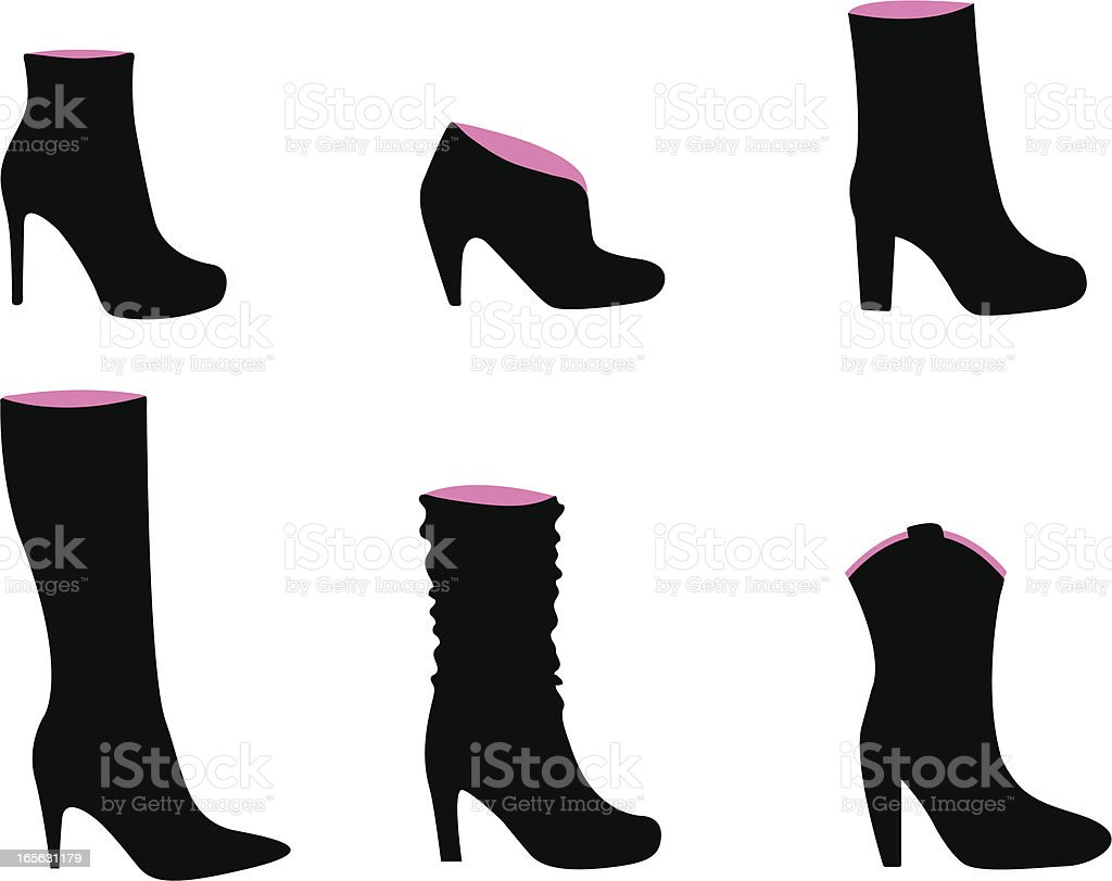 Boots fashion pic boots clip art - Women S Boots Royalty Free Stock Vector Art