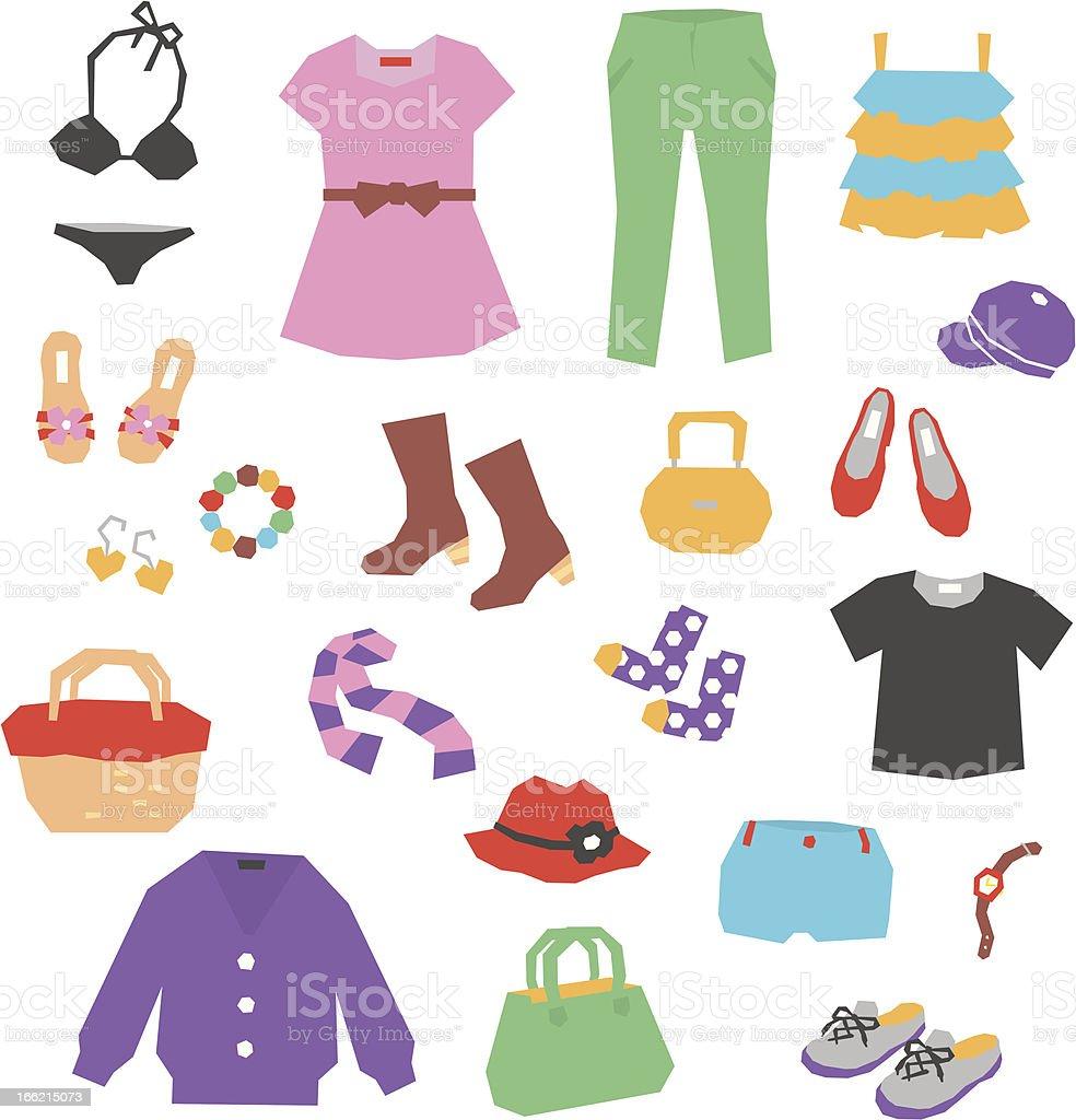 women's clothing royalty-free stock vector art