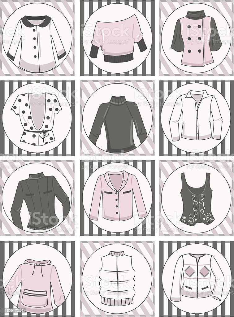 Women's clothing royalty-free stock vector art