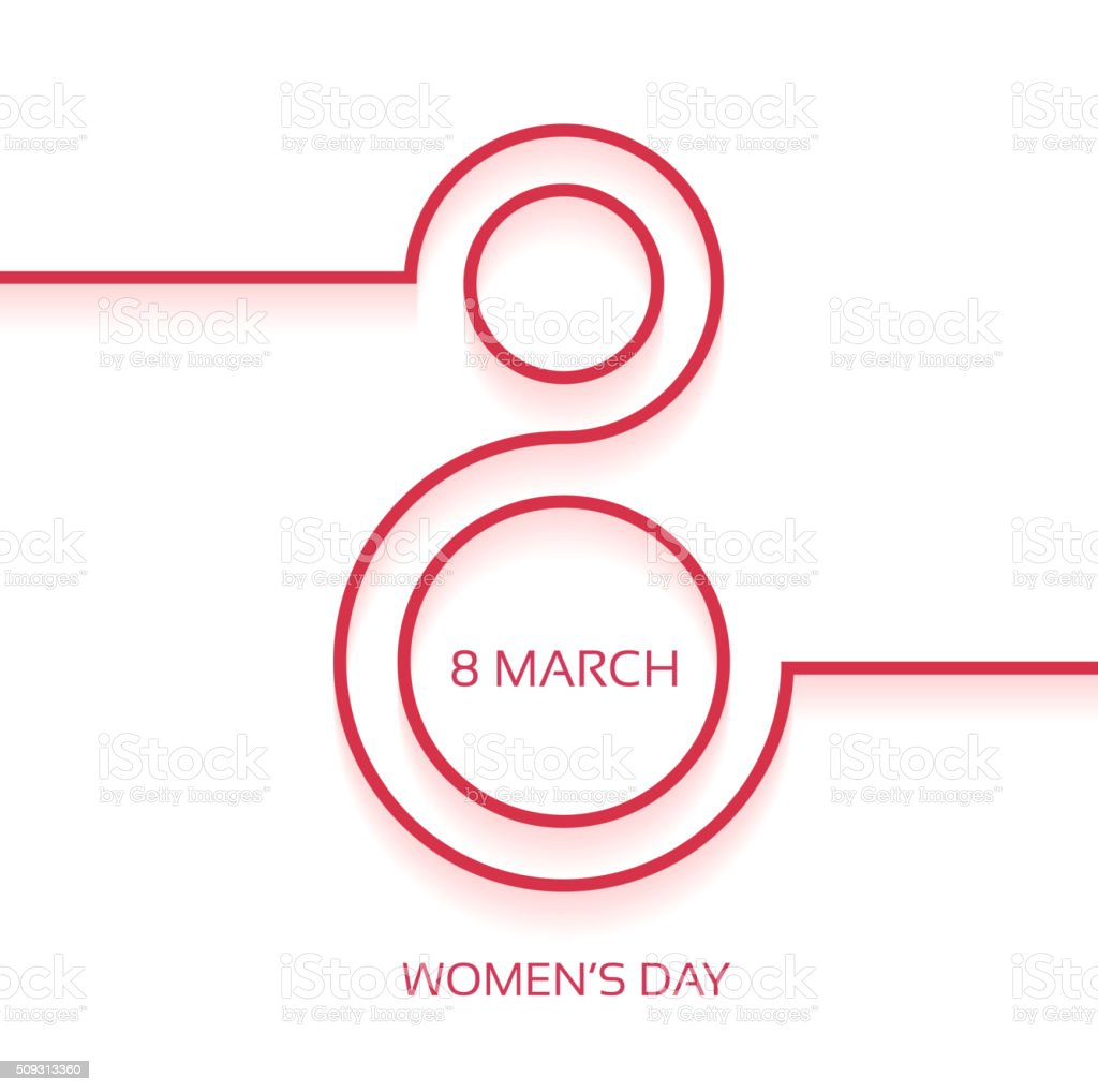 Women's day design background vector art illustration
