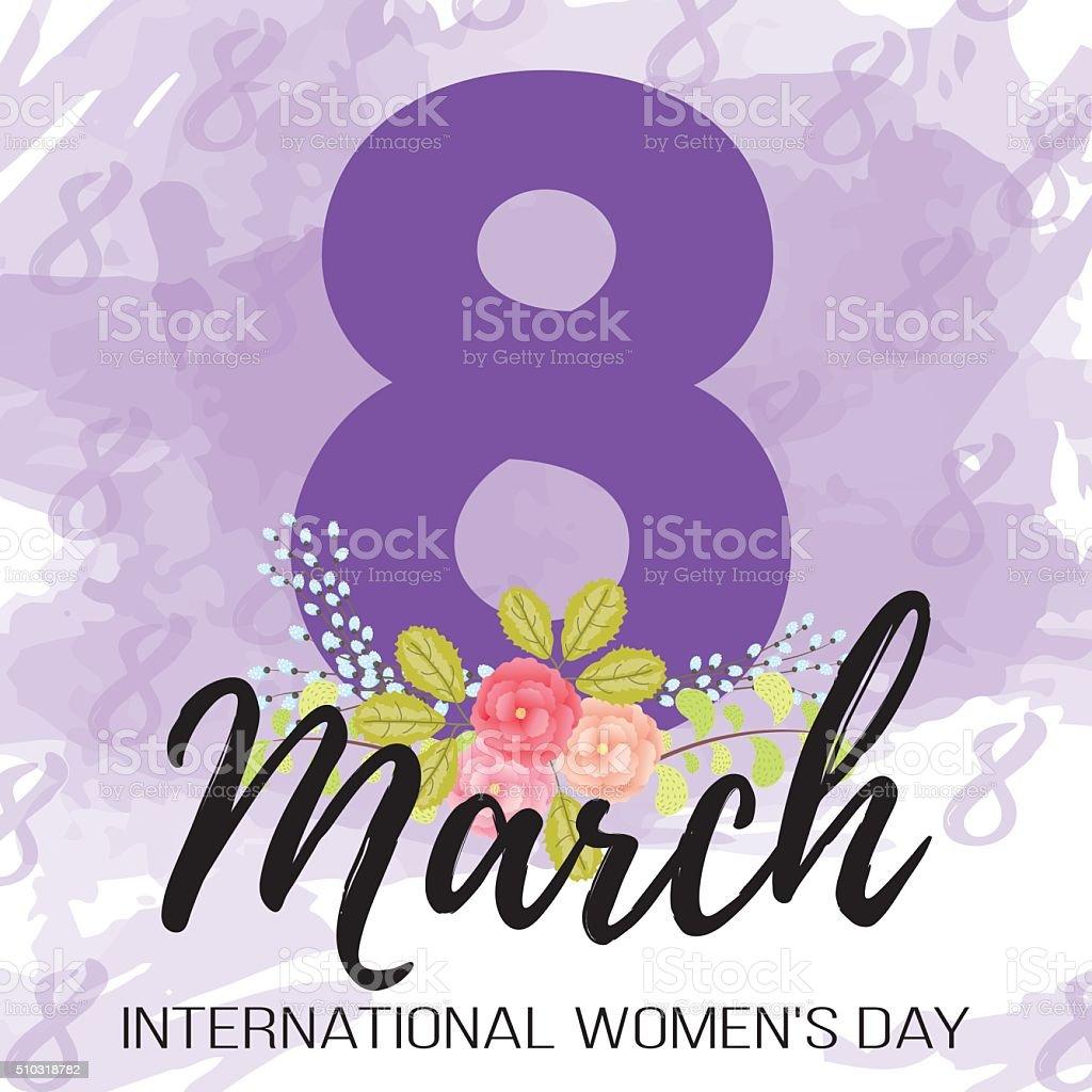 Journée de la femme stock vecteur libres de droits libre de droits