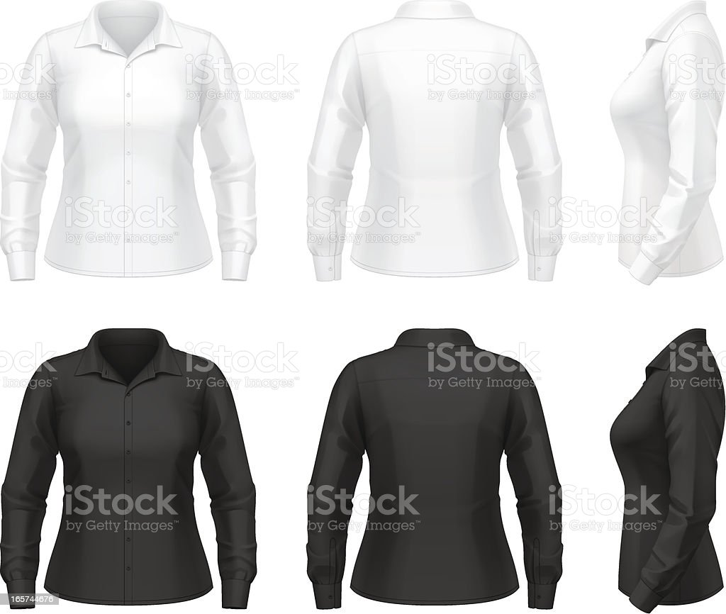 Women's dress shirt vector art illustration