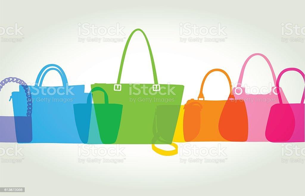 Womens Fashion Bags vector art illustration