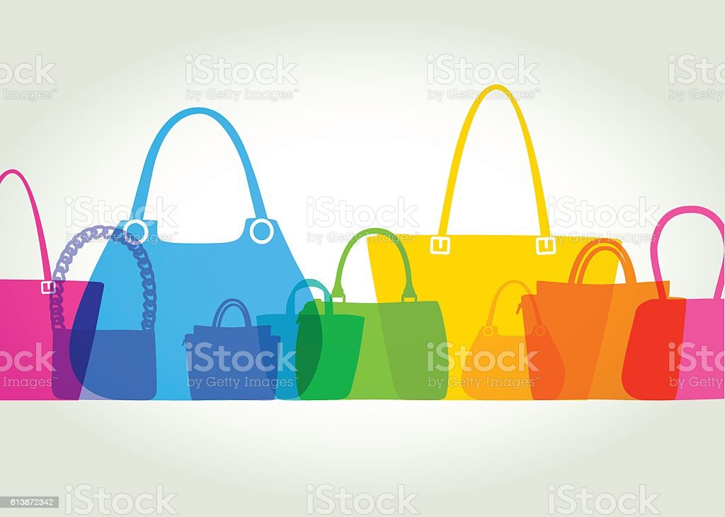 Womens Fashion Bags vector art illustration