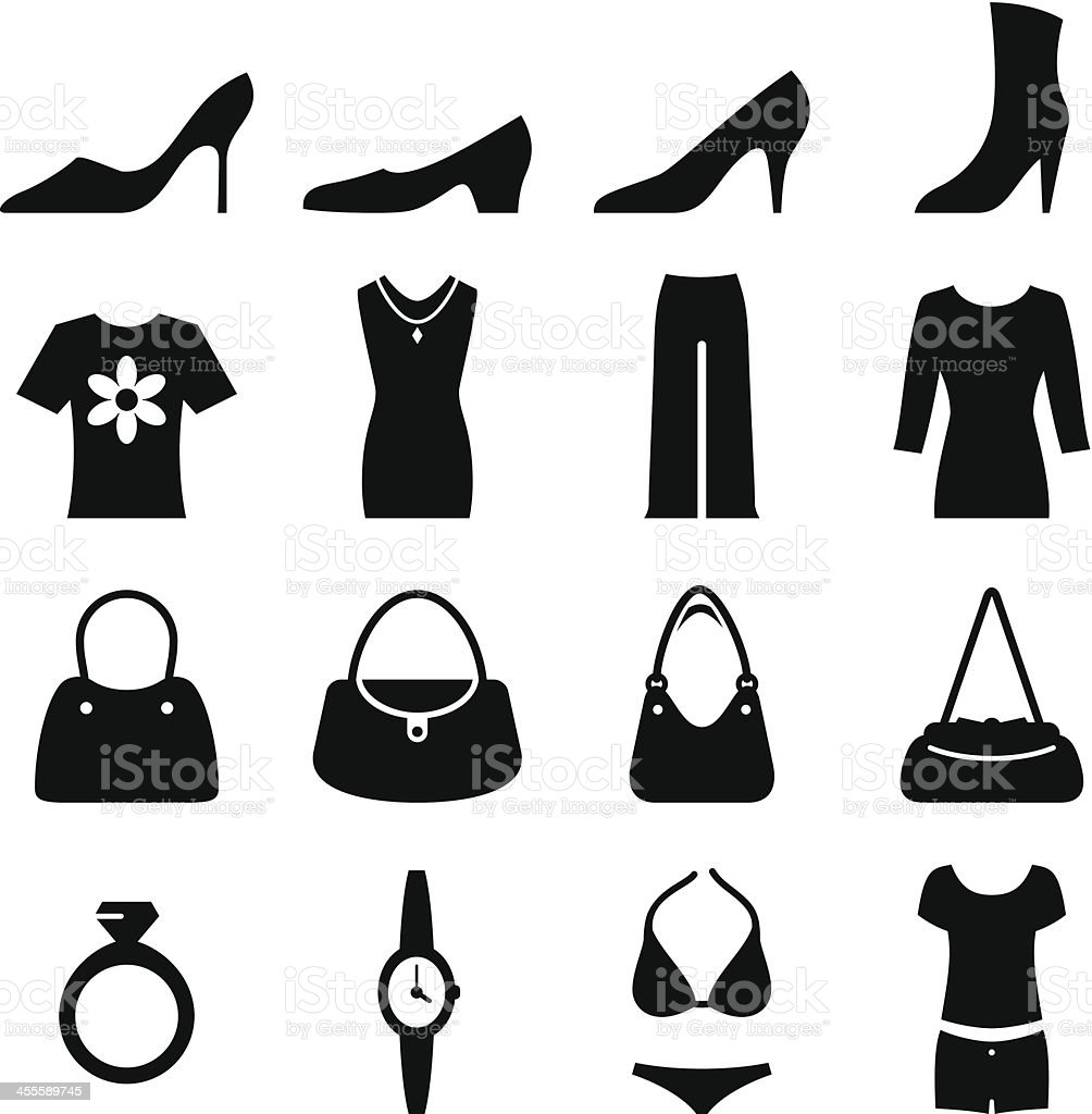 Women's Fashion - Black Series vector art illustration