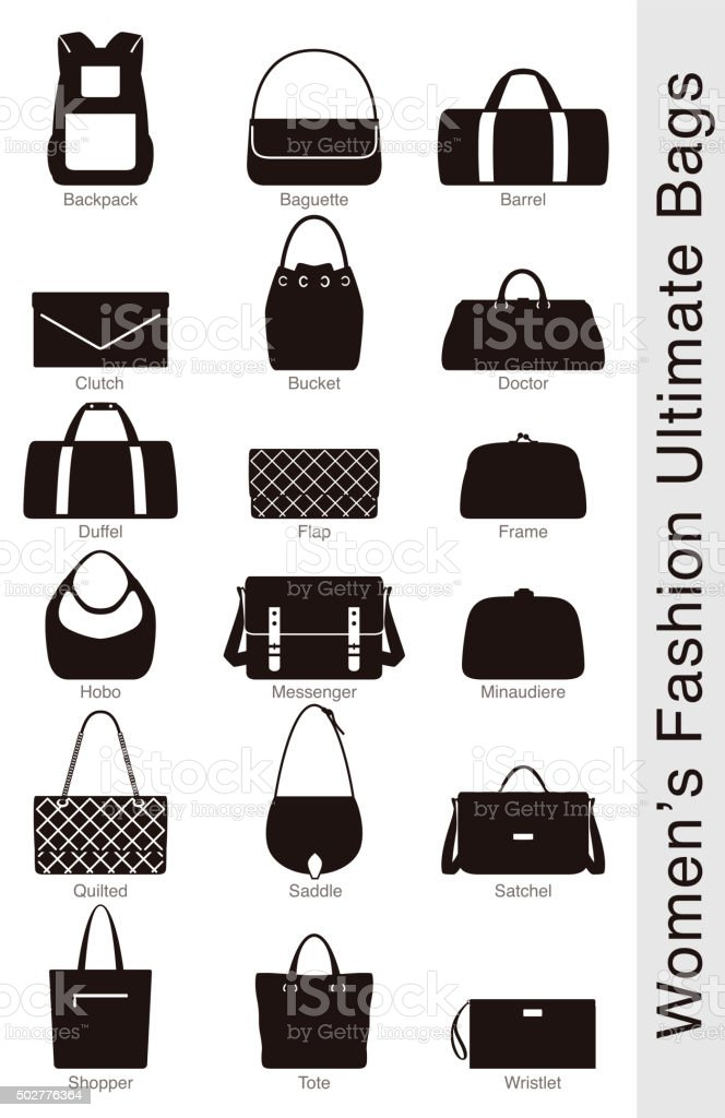 women's fashion ultimate bags, vector vector art illustration