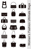 women's fashion ultimate bags, vector