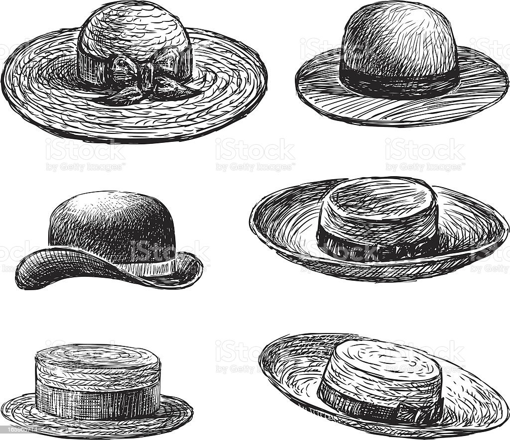 women's hats vector art illustration