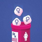 Women's Health Prescription Medicine Concept
