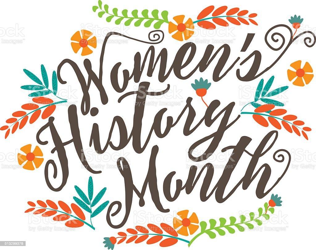 Women's history month design. vector art illustration