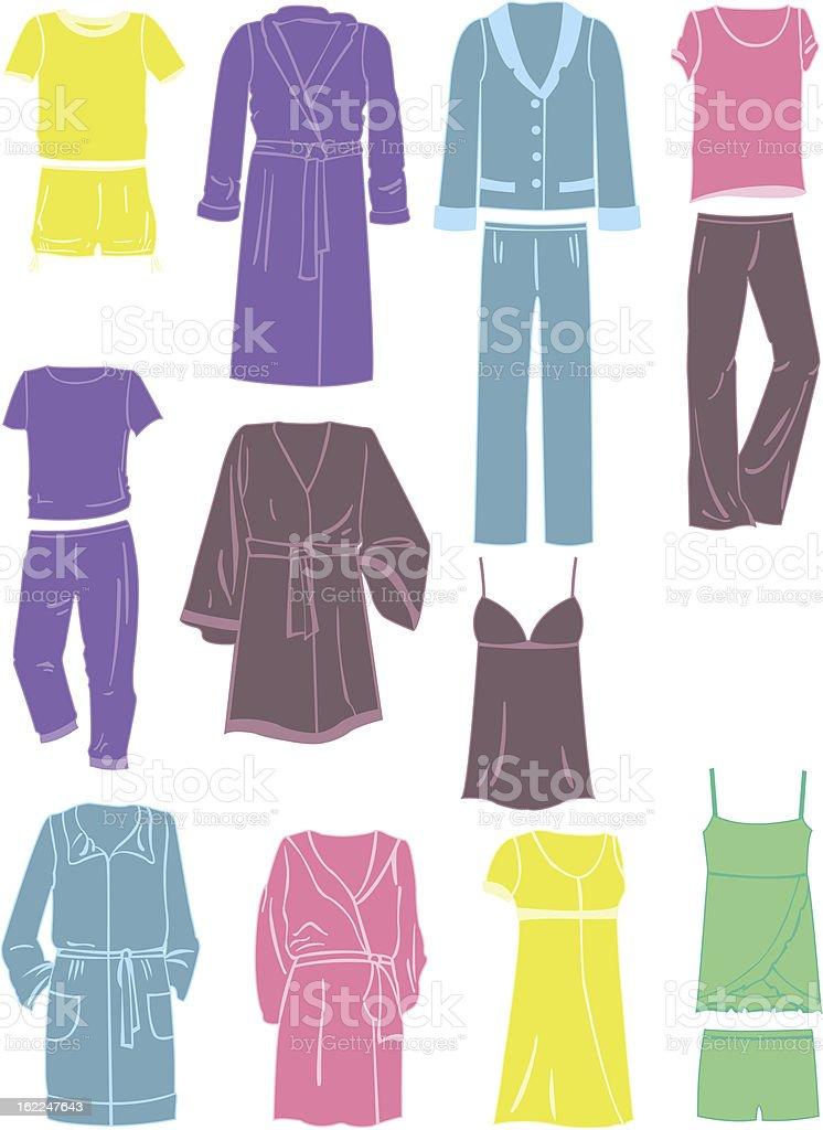 Women's household clothing royalty-free stock vector art