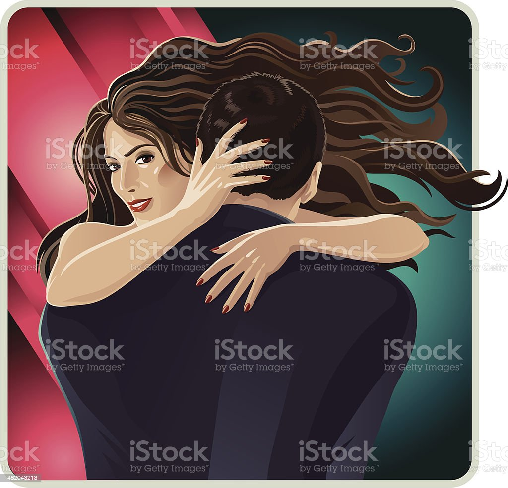 Women's Intrigue vector art illustration