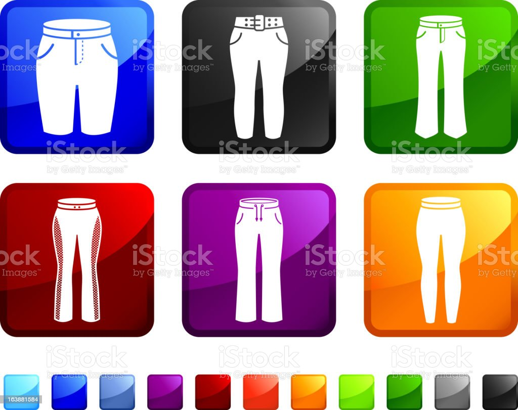 Women's Pants and Clothing royalty free vector icon set stickers vector art illustration