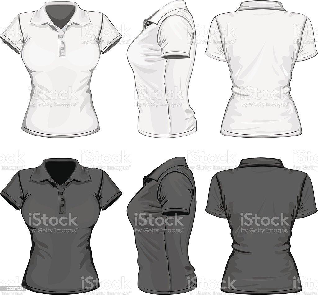 Women's polo-shirt design template vector art illustration