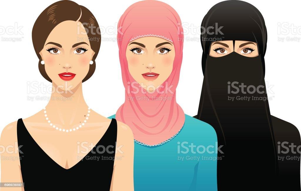 Women's rights vector art illustration