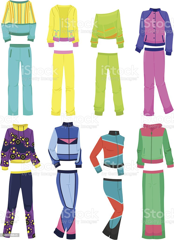 Women's tracksuits royalty-free stock vector art