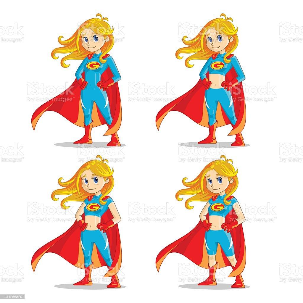 Wonder Girl vector art illustration