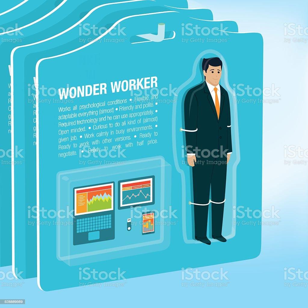 Wonder Worker vector art illustration