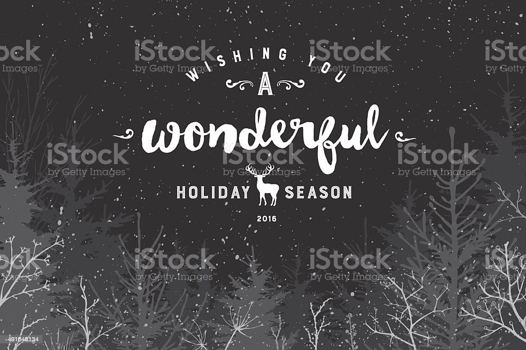 Wonderful holiday season vector art illustration