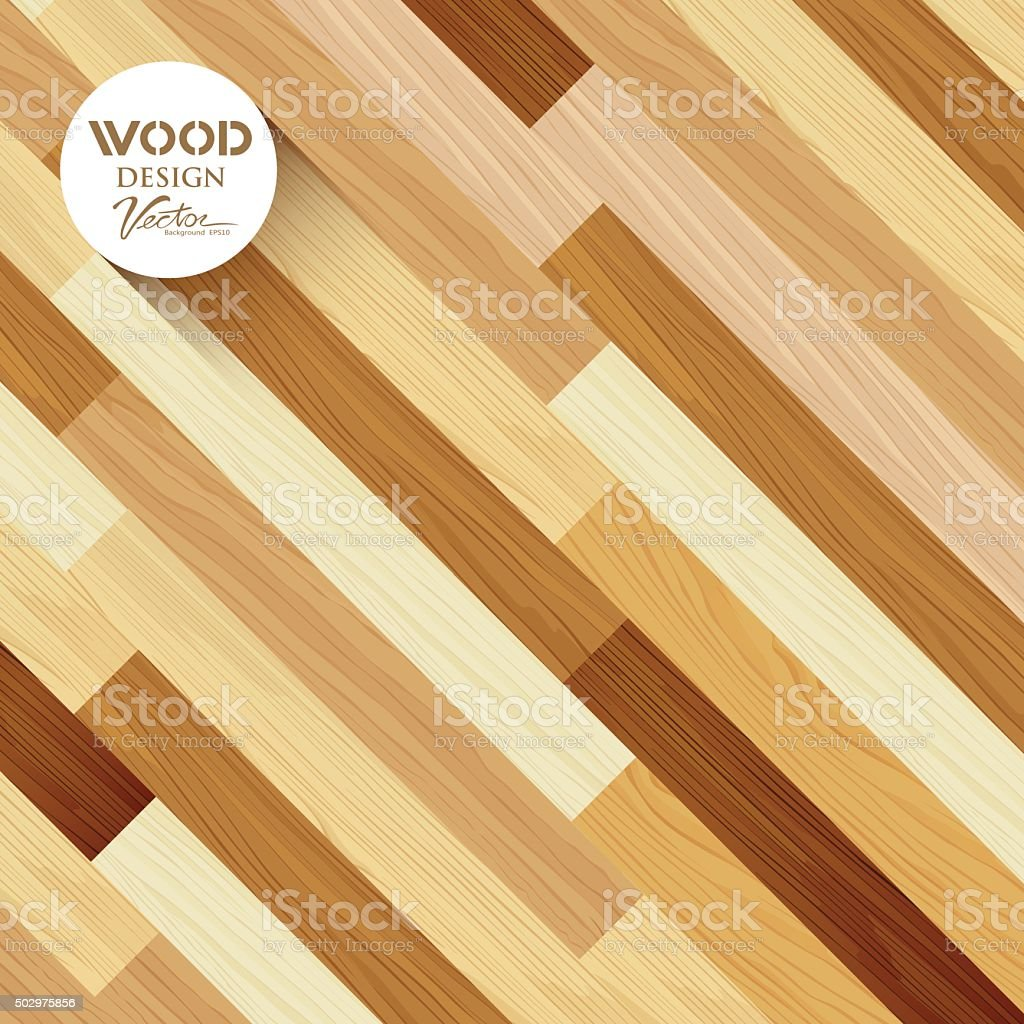 Wood abstract floor colored striped oblique concept vector art illustration