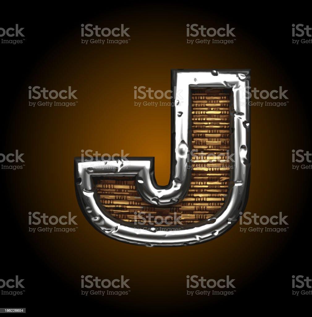 Wood and Metal Figure j royalty-free stock vector art