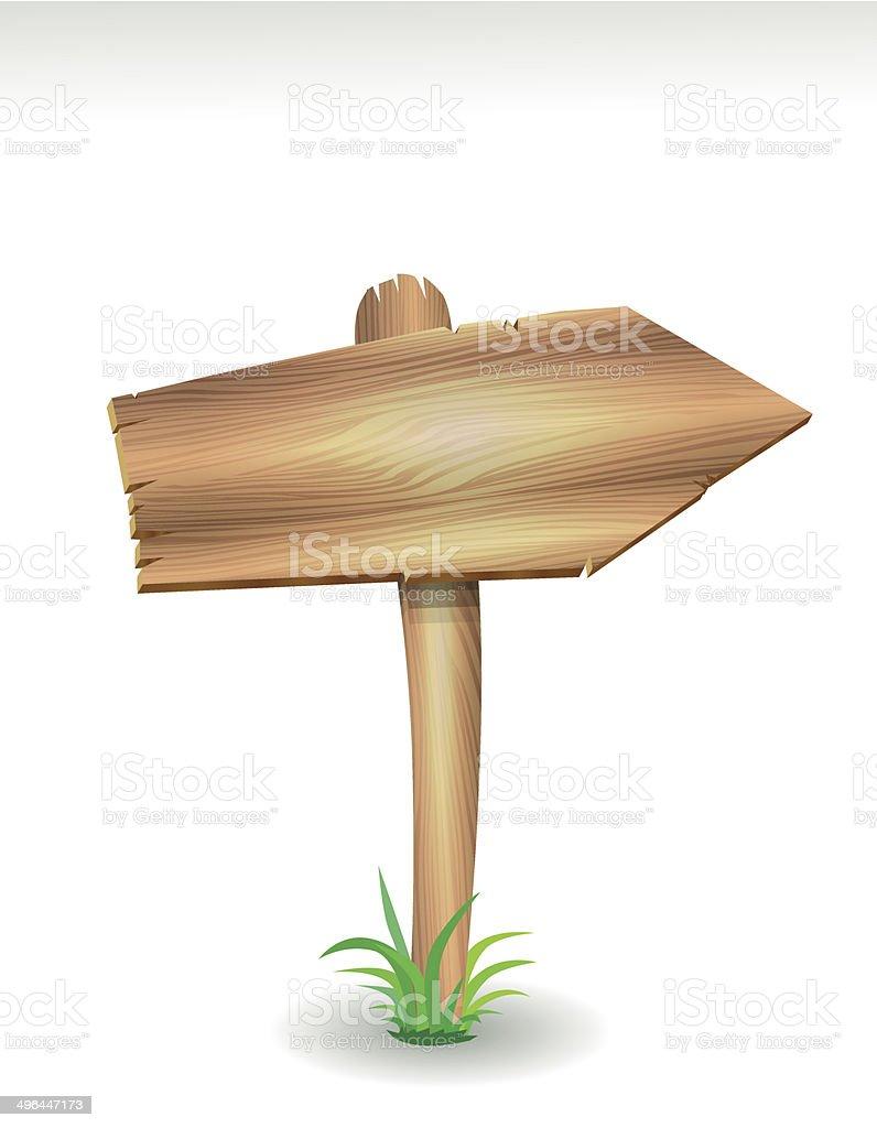 Flèche en bois stock vecteur libres de droits libre de droits