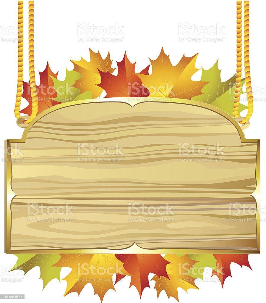 Wood banner royalty-free stock vector art