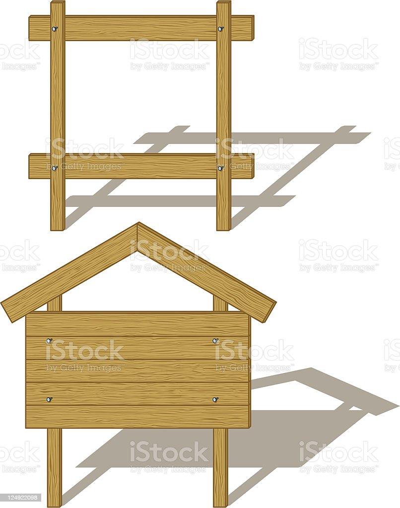 Wood billboards royalty-free stock vector art