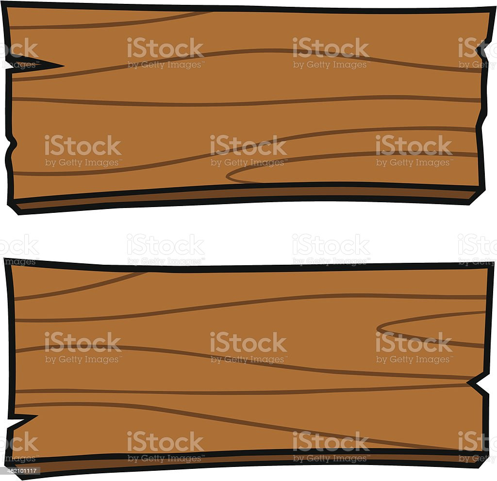 Wood Boards vector art illustration