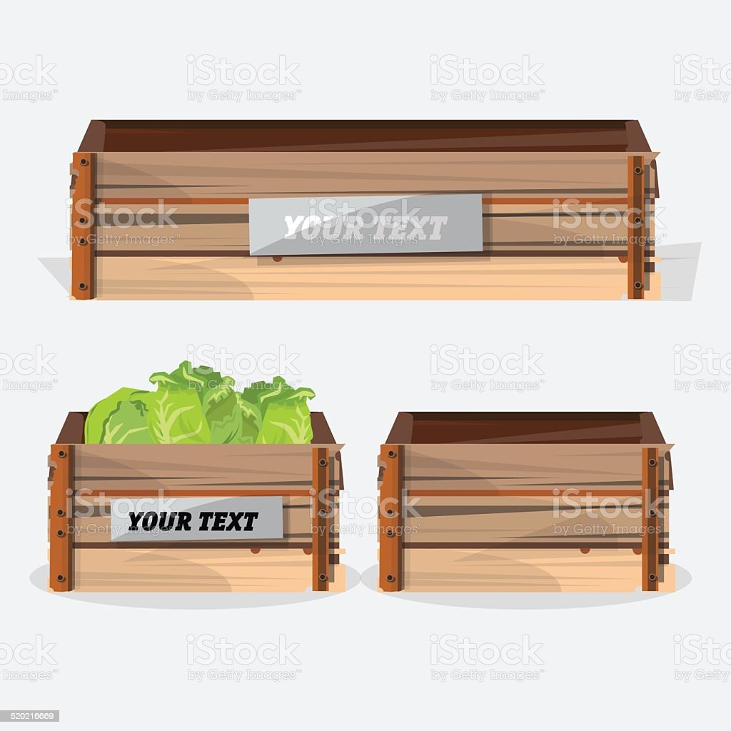 wood crate - vector illustration vector art illustration