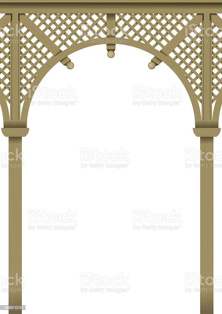 Wood delicate arch vector art illustration