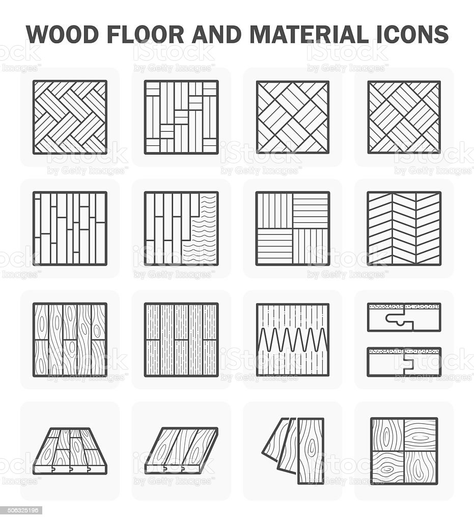 Wood floor icon vector art illustration