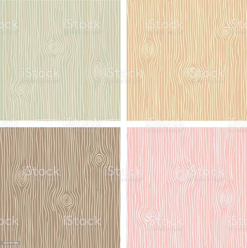 Wood grain texture in vintage color vector art illustration