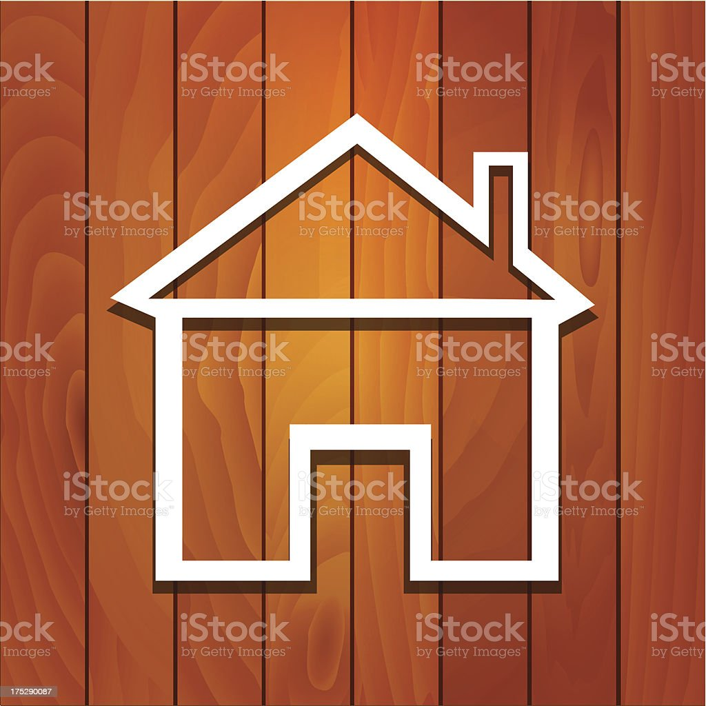 Wood House Concept royalty-free stock vector art