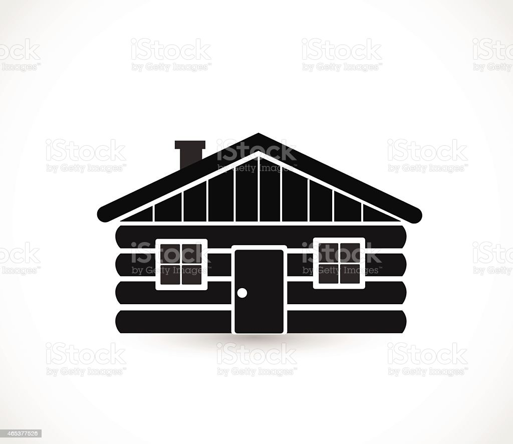 Wood log house icon vector illustration vector art illustration