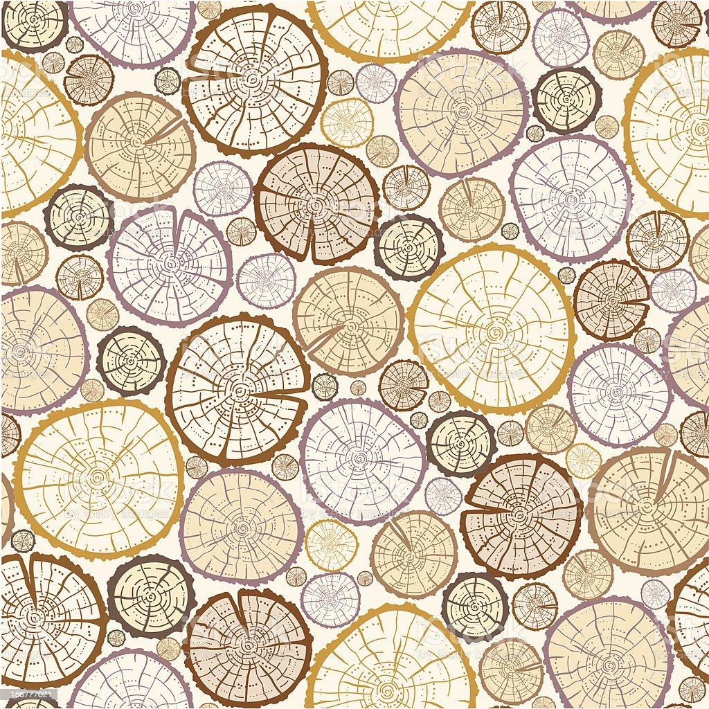 Wood Logs Seamless Pattern Background vector art illustration