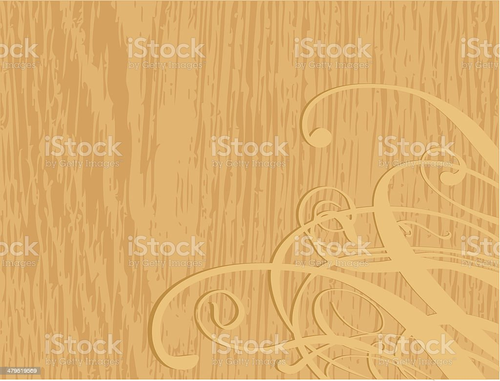 Wood ornament royalty-free stock vector art