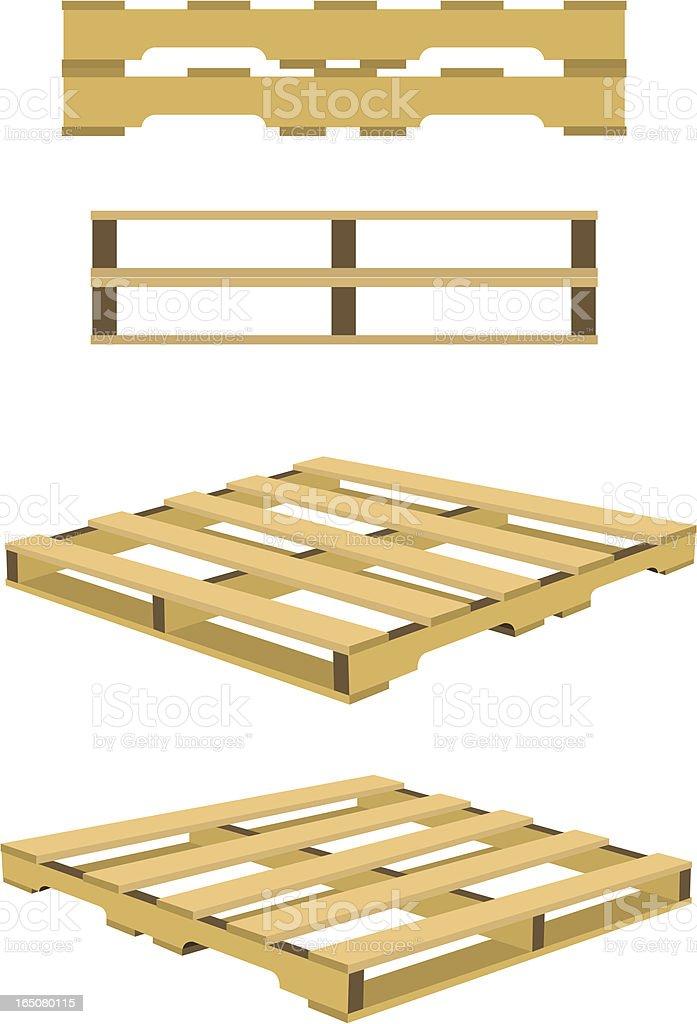 Wood Pallet royalty-free stock vector art