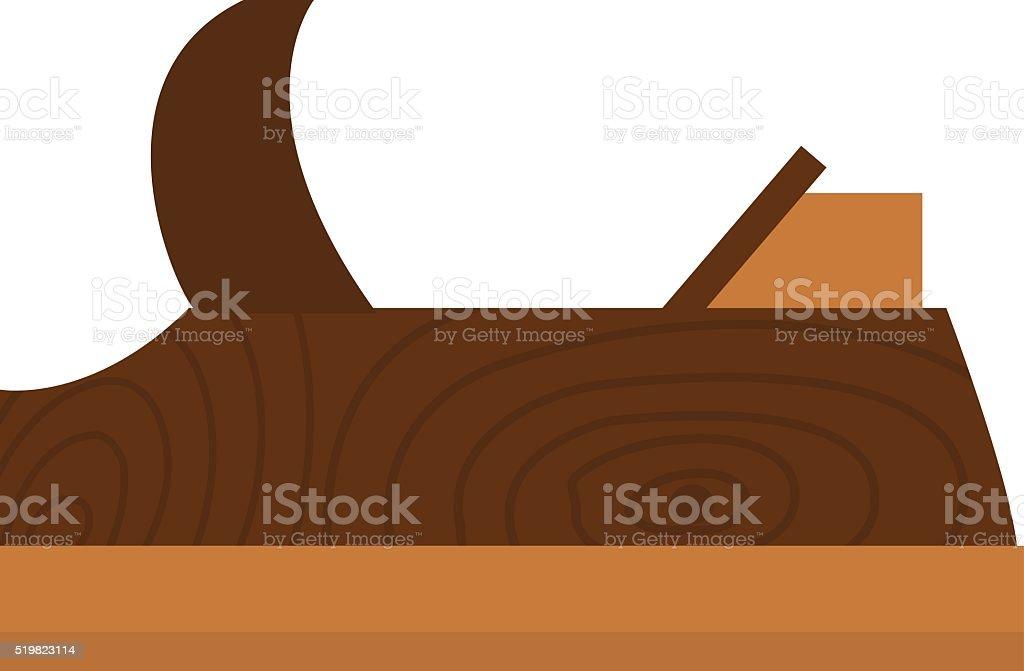 Wood plane tool icons isolated on white background vector art illustration