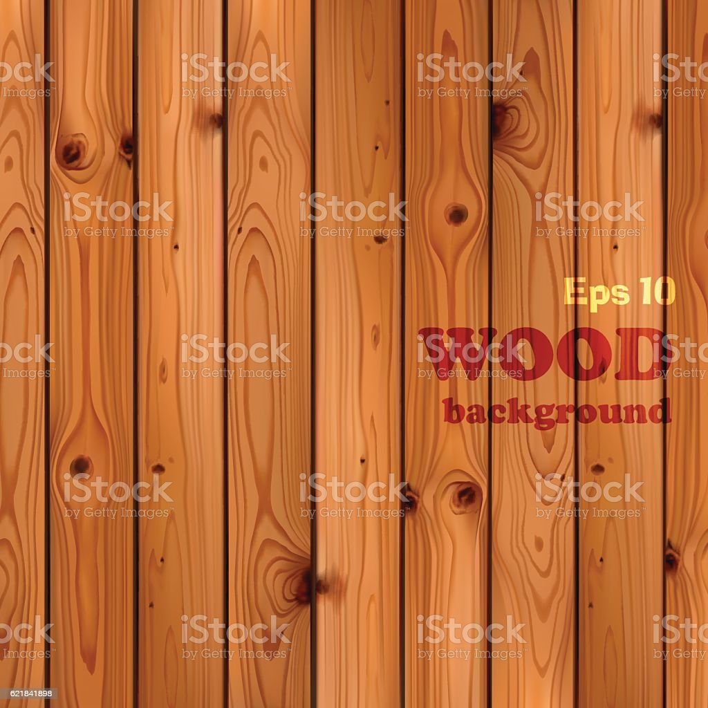 Wood plank background. vector art illustration
