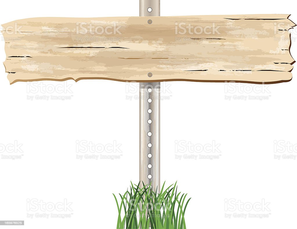 Wood Plank Sign royalty-free stock vector art