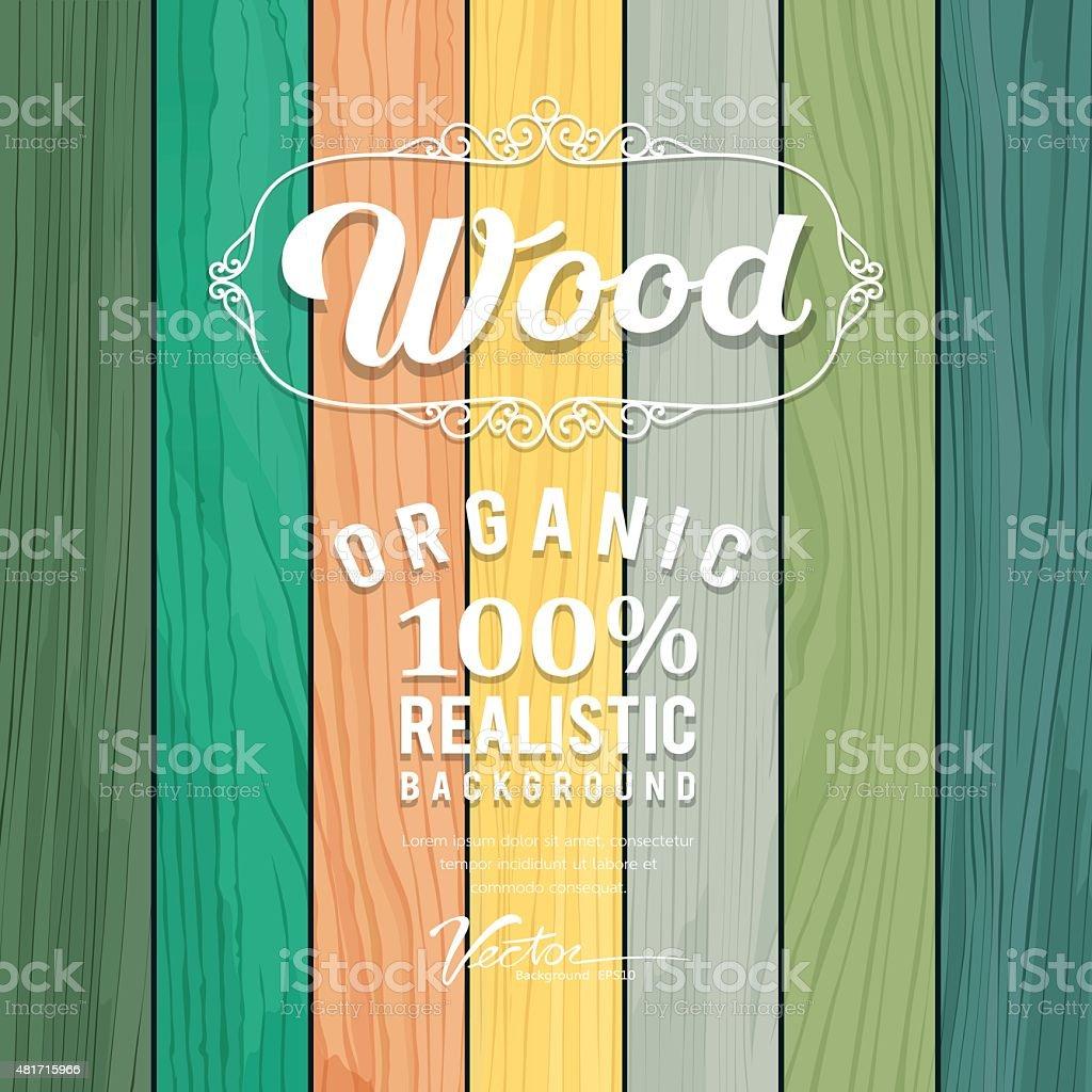 Wood realistic colorful texture design vector art illustration