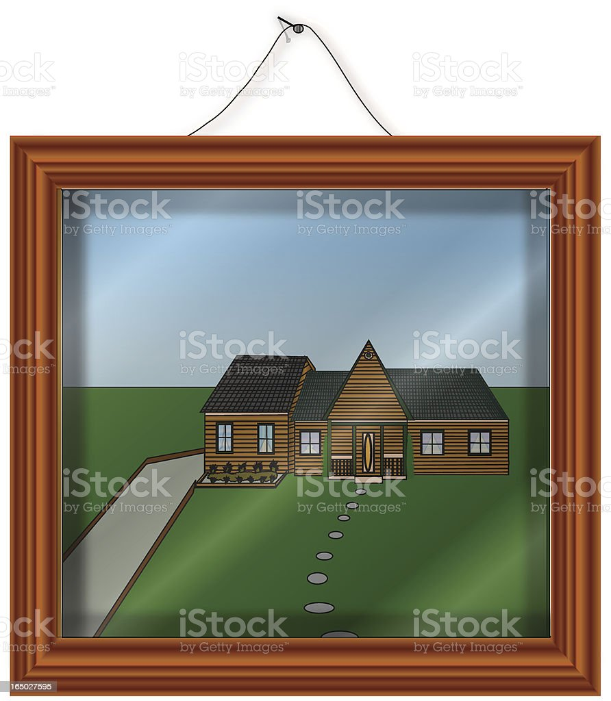 Wood Shadow box for your photo- Vector royalty-free stock vector art