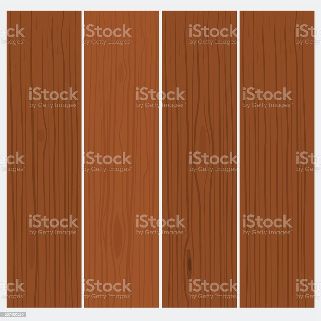 Wood texture, background. Flat color style design vector art illustration
