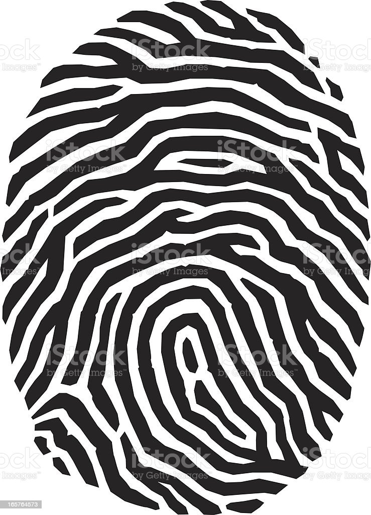 Woodcut fingerprint royalty-free stock vector art