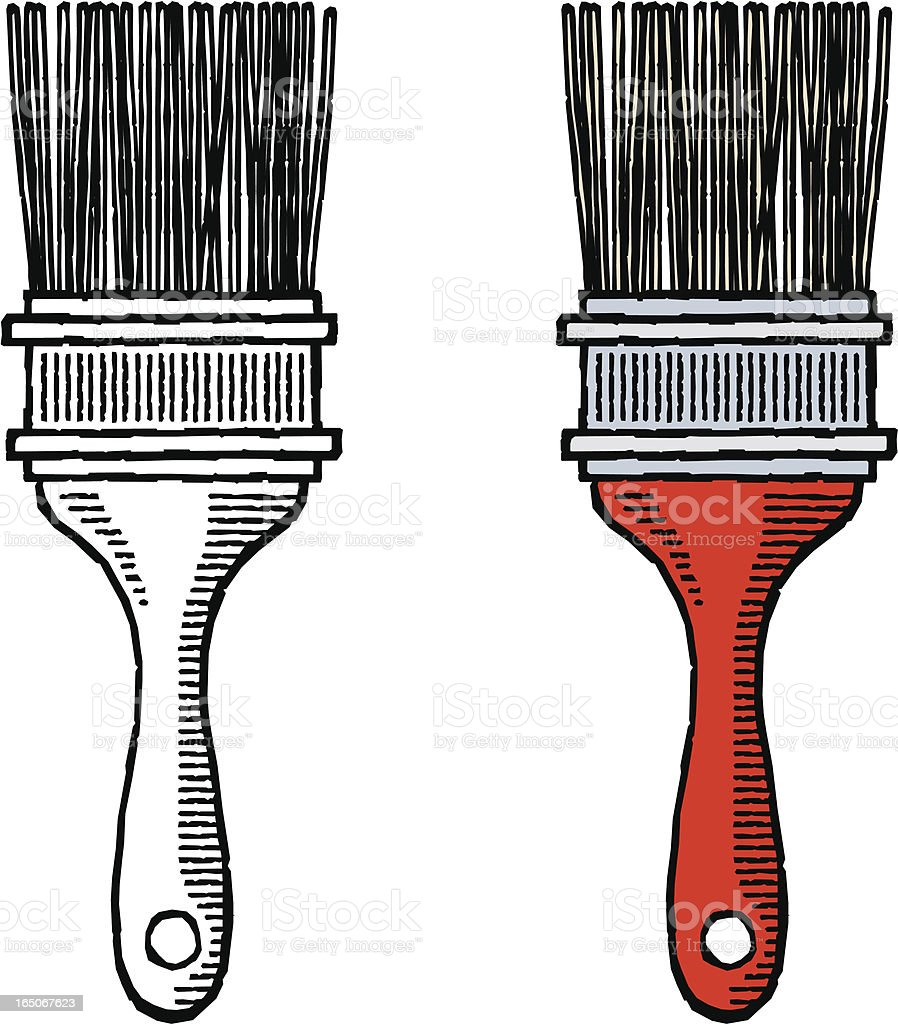 Woodcut paintbrush royalty-free stock vector art